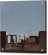 Mexico Rooftop By Tom Ray Acrylic Print