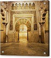 Mezquita Mihrab In Cordoba Acrylic Print