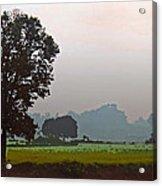 Mhow Dawn Shapes Acrylic Print