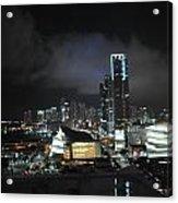Miami At Night Acrylic Print