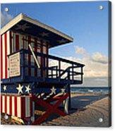 Miami Beach Watchtower Acrylic Print