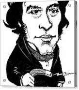 Michael Faraday, Caricature Acrylic Print by Gary Brown