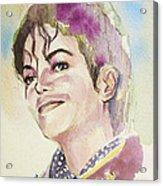 Michael Jackson - Mike Acrylic Print by Hitomi Osanai