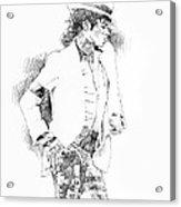 Michael Jackson Attitude Acrylic Print