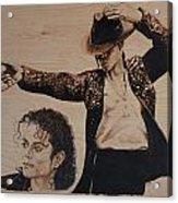 Michael Jackson Acrylic Print by Michael Garbe