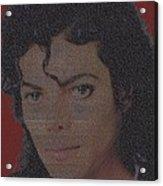Michael Jackson Songs Mosaic Acrylic Print by Paul Van Scott