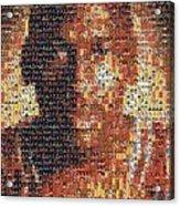 Michael Jordan Card Mosaic 1 Acrylic Print