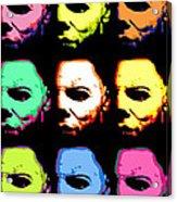 Michael Myers Mask Pop Art Acrylic Print