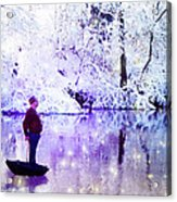 Michale Poppins Winter Adventure Acrylic Print by Michael Taggart