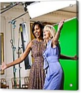 Michelle Obama And Jill Biden Joke Acrylic Print