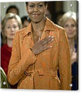 Michelle Obama At A Public Appearance Acrylic Print