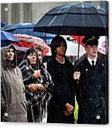 Michelle Obama Attends A Wreath Laying Acrylic Print