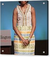 Michelle Obama In Attendance For Lady Acrylic Print by Everett