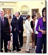 Michelle Obama Laughs With Guests Acrylic Print