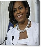 Michelle Obama Visited The Treasury Acrylic Print