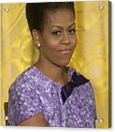 Michelle Obama Wearing An Anne Klein Acrylic Print