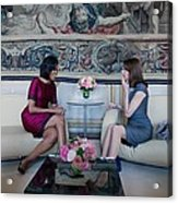 Michelle Obama With Carla Bruni-sarkozy Acrylic Print