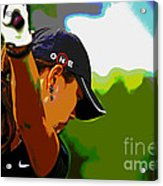 Michelle Wie Acrylic Print by Pascale Vandewalle