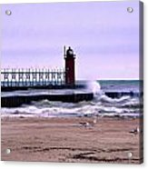 Michigan City Lighthouse Indiana Acrylic Print