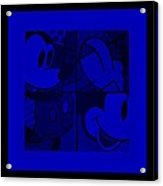 Mickey In Blue Acrylic Print