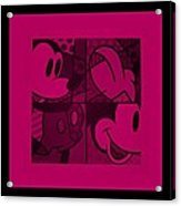 Mickey In Hot Pink Acrylic Print