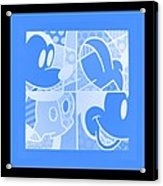 Mickey In Negative Light Blue Acrylic Print