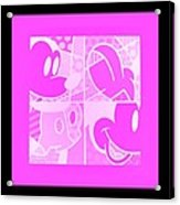 Mickey In Negative Pink Acrylic Print