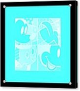 Mickey In Negative Turquois Acrylic Print