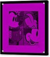 Mickey In Purple Acrylic Print