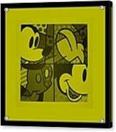 Mickey In Yellow Acrylic Print