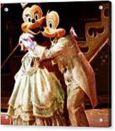 Micky And Minnie Mouse Skate Acrylic Print