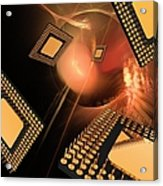 Microprocessor Chips, Artwork Acrylic Print