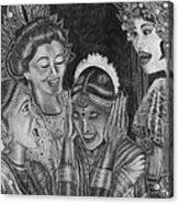 Middle Eastern Women Acrylic Print