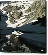 Middle Palisade Peak Reflects In Finger Acrylic Print