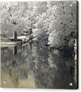 Middle River In Infrared Acrylic Print