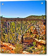 Midgley Bridge Sedona Arizona Acrylic Print