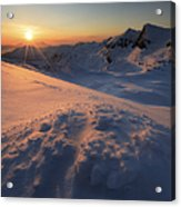 Midnight Sun Above Lilletinden Acrylic Print