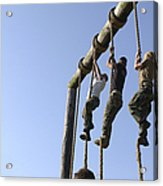 Midshipmen Tackle The Ropes Portion Acrylic Print