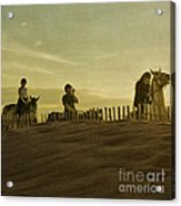 Midsummer Evening Horse Ride Acrylic Print by Paul Grand