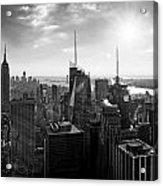 Midtown Skyline Infrared Acrylic Print