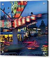 Midway Blur Acrylic Print