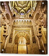Mihrab And Ceiling Of Mezquita In Cordoba Acrylic Print