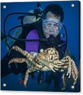 Mike And The Crab Acrylic Print