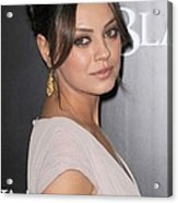 Mila Kunis At Arrivals For Black Swan Acrylic Print