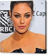 Mila Kunis At Arrivals For Ifps 20th Acrylic Print by Everett