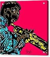 Miles Davis Full Color Acrylic Print