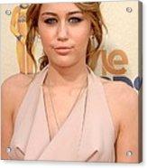 Miley Cyrus Wearing A Moschino Cheap & Acrylic Print