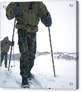 Military Arctic Survival Training Acrylic Print