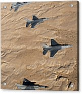 Military Fighter Jets Fly In Formation Acrylic Print