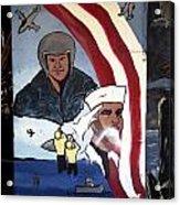 Military Mural Acrylic Print